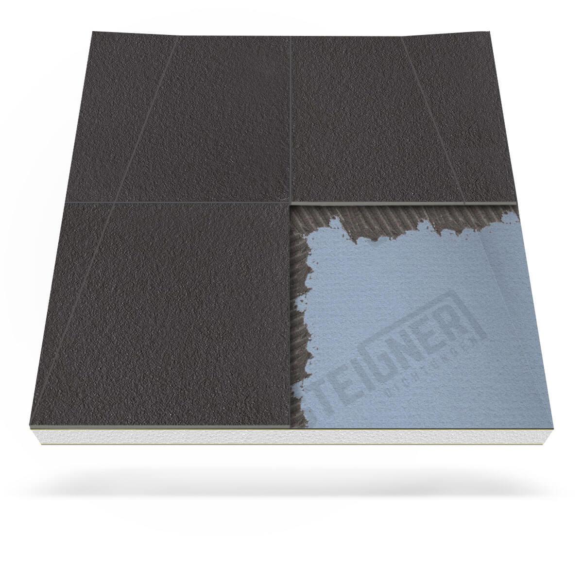 duschboard mineral plus für wandablauf - steigner
