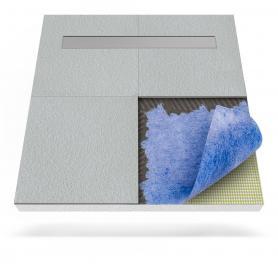 Duschboard mit Dichtfolie und linearem Ablauf