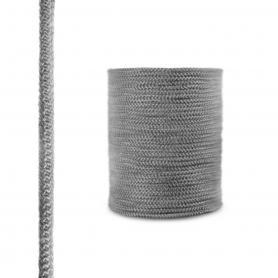 Dichtschnur aus Glasfasern SKD02 dunkelgrau 10mm