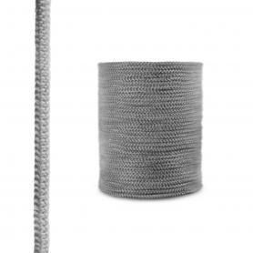 Dichtschnur aus Glasfasern SKD02 dunkelgrau 12mm