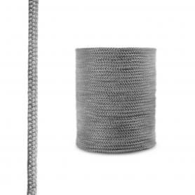Dichtschnur aus Glasfasern SKD02 dunkelgrau 8mm