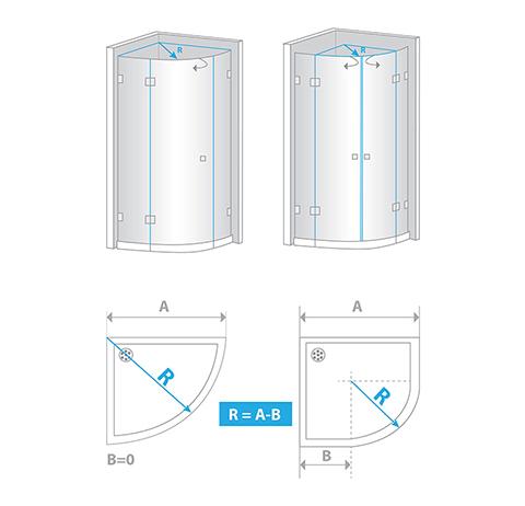 Wie Sie Ihre runde Duschtür ausmessen